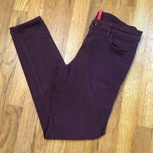 Uniqlo Burgundy Skinny Jeans